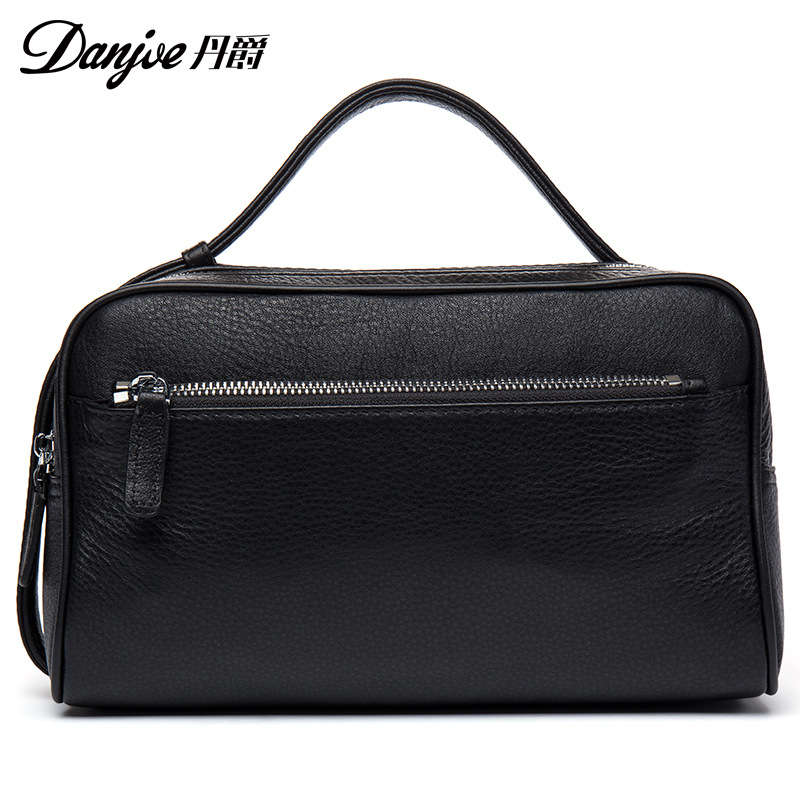 DANJUE 2018 Fashion Summer New Arrival Genuine Leather Mens Clutch For Men Wristlet 7 Tablet Bags