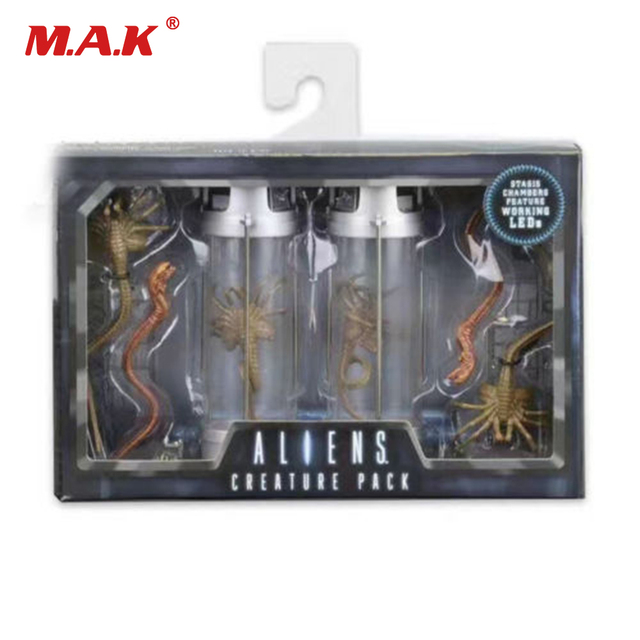 NECA LED Predator Alien CREATURE PACK 30th Anniversary Deluxe 7 inches 18cm Mini Character Figure Model for Fans Collection Gift