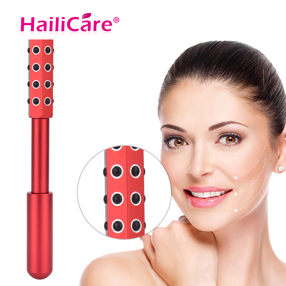 Germanium Beauty Roller Massager With 30 Germanium Stones For Anti-wrinkled Skin Tightening Face Care Tools Face Beauty Bar