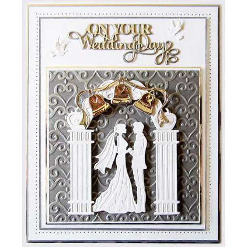 Wedding Couple Metal Cutting Dies Stencils for DIY Scrapbooking Photo Album Decorative Embossing Paper Card Craft Die Cut 2019