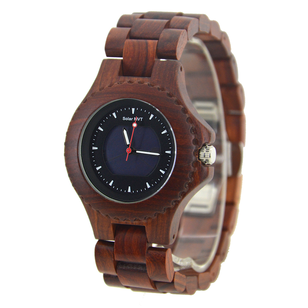 все цены на BEWELL Solar Men Wooden Watches Natural Handmade Wood Strap Round Case Limited Edition Waterproof Wood Quartz Watch 074A