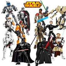 Série Espaço 8 Blocos de Construção de Star Wars Último Jedi LEGOings Boba Rey brinquedos Darth Vader Chewbacca Figuras Kylo Fett Guarda Real 28