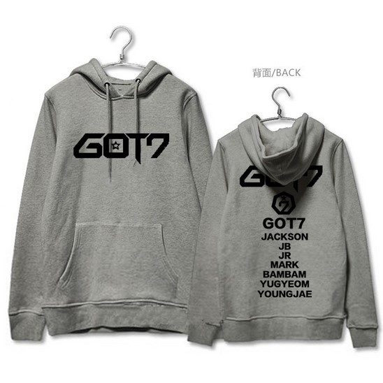 GOT7 Wang Jiaer with hooded 2018 new spring and autumn men and women couple Fleece Couples coat