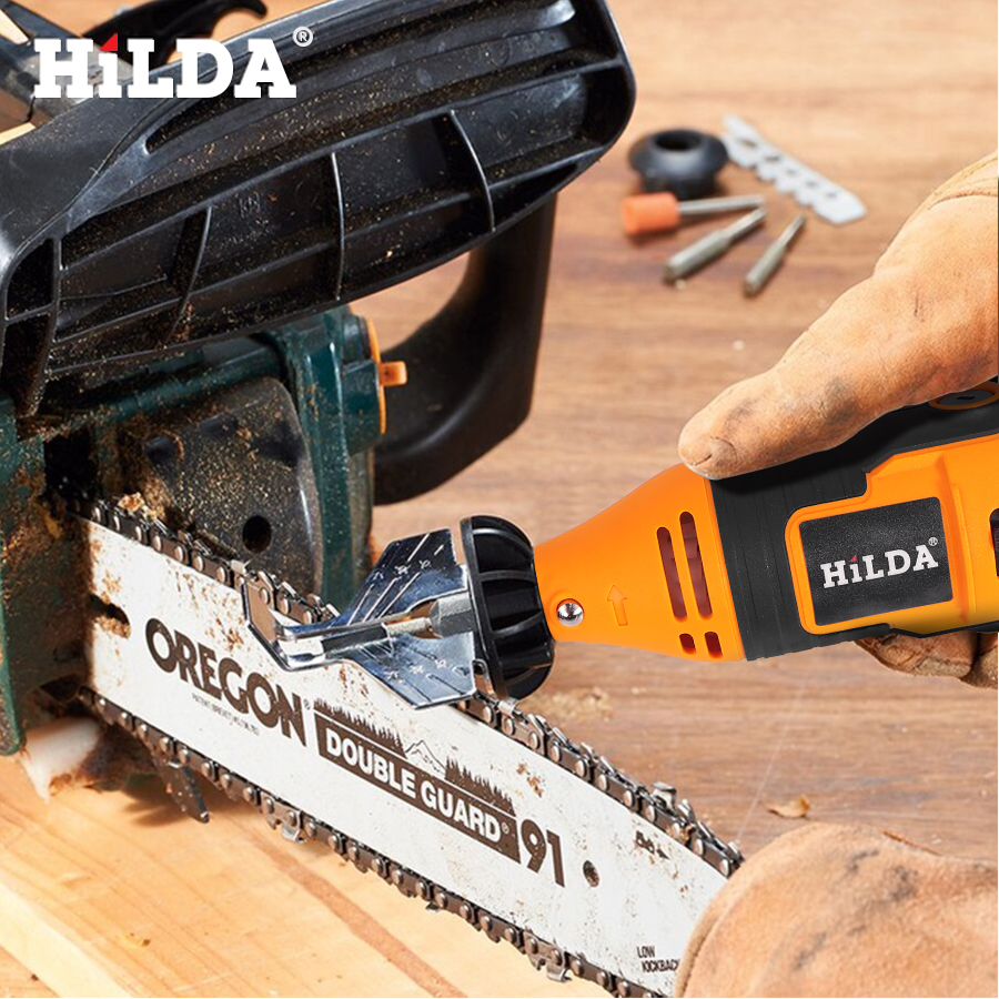 HILDA Saw Sharpening Attachment Sharpener Guide Drill Adapter For Dremel Rotary Tool Set Accessories