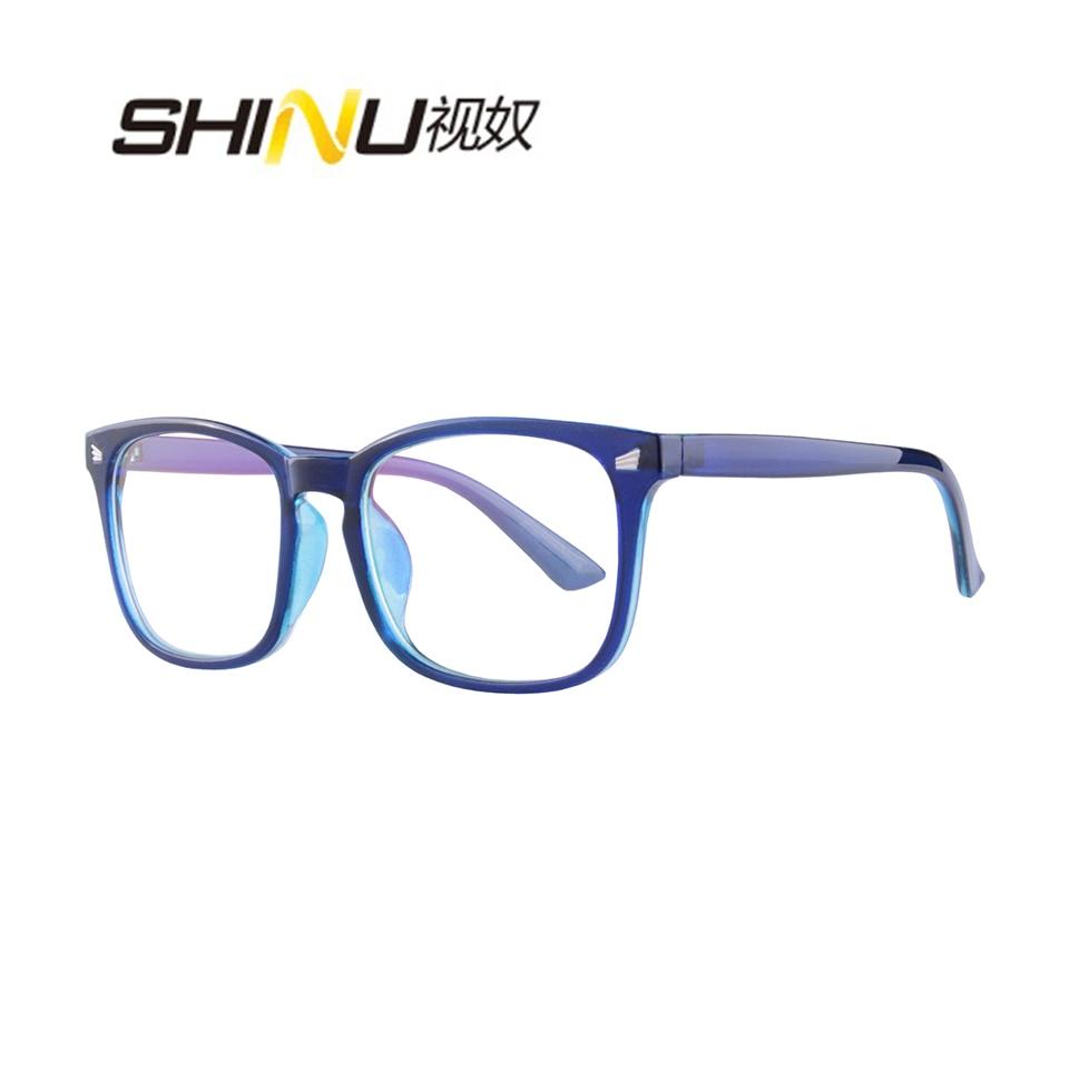 Anti Blue Ray Multifocal Progressive Reading Glasses Women Men Reader UV400 Antifatigue See Far See Near Diopter Eyeglasses