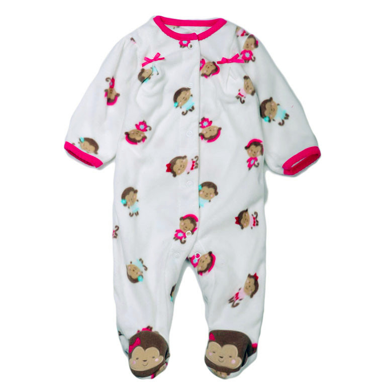 990844b6b Brand Carter's Baby girl's pink monkey sleep and play child of mine fleece footed  pajamas-in Rompers from Mother & Kids on Aliexpress.com | Alibaba Group