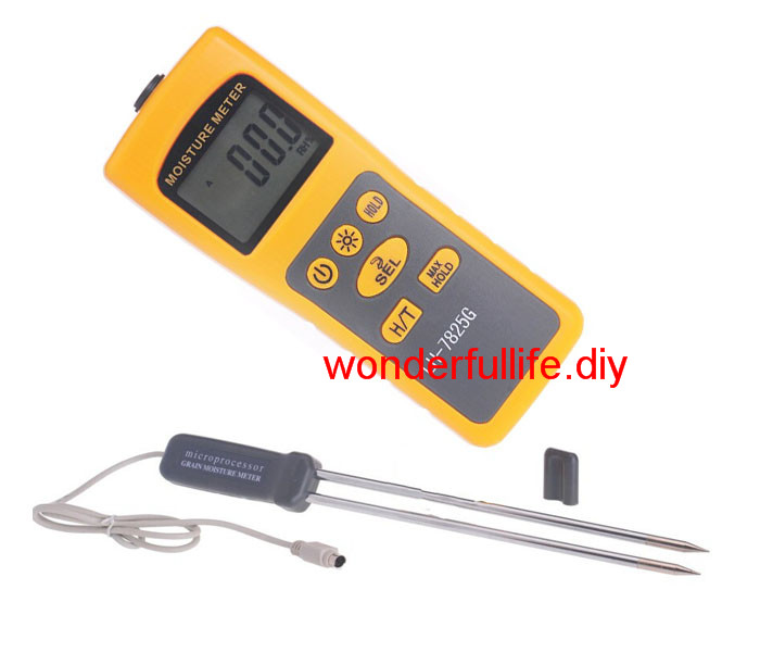 Grain moisture meter tester Thermometer FOR Rice Corn Paddy Wheat mc 7806 wholesale retail moisture meter pin type moisture tester