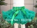 Пачка юбка зеленый твердого для детей с с бантом милые pettiskirts и пачки для девочек PETS-146
