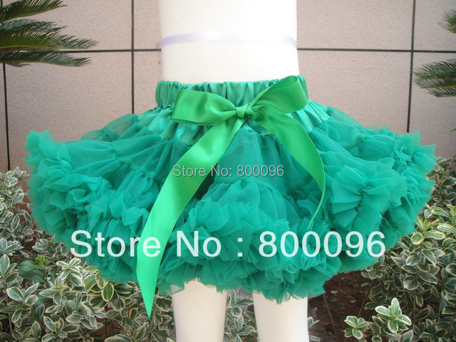tutu pettiskirt green solid tutu for babies with bow cute pettiskirts and tutus for girls PETS-146