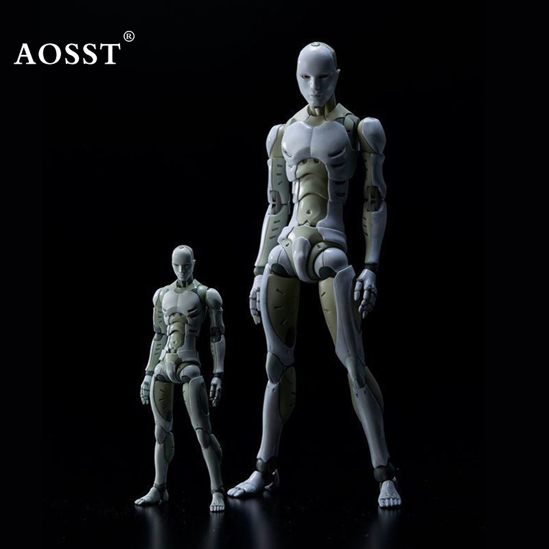 16cm Male Female Movable body joint Action Figure Toys artist Art painting Anime model doll Mannequin Art Sketch Draw Human body new 2pcs female right left vivid foot mannequin jewerly display model art sketch