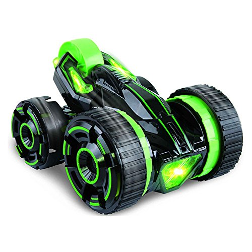 Five Wheels Race Stunt Car 2WD Remote Control RC Vehicle LED Headlights Extreme High Speed 360 Degree Rolling Rotating Rotation