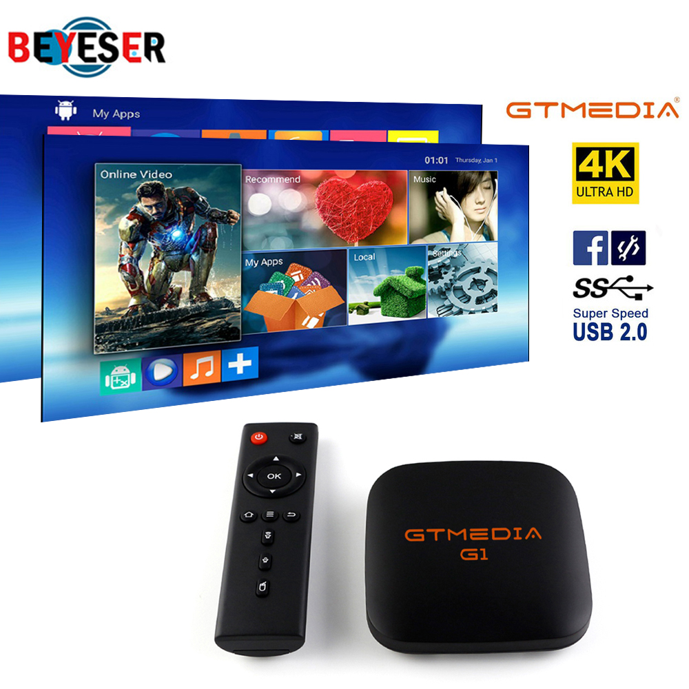 GTmedia G1 Tv Box Media Player 1GB RAM 8GB ROM S905W Android 7.1 Remote Control 4K 2K HD 2.4G Built In Wifi Set Top Boxes IPTV