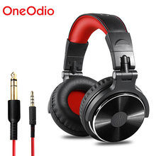цена OneOdio Original Headphones Professional Studio Dynamic Stereo DJ Headphones With Microphone Wired Headset Monitoring For Phone