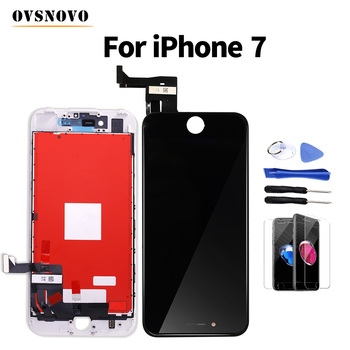 Ovsnovo AAA+ LCD For iPhone 7 Display Digitizer Assembly Replacement Screen+Glass Protector&Tools White/Black No Dead Pixel