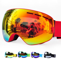 New Benice Brand Ski Goggles Double Layers UV400 Anti Fog Big Ski Mask Glasses Skiing Men