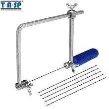 """TASP """" Многофункциональный лобзик, ручная Пильная пила, лобзик, рама, хобби, Деревообрабатывающие инструменты с 6 шт спиральными лезвиями-MASB50"""