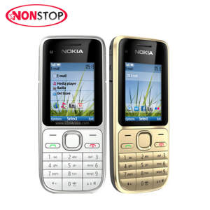 Nokia C2-01 Unlocked Phone C2 GSM/WCDMA 3.15MP Camera 3G phone Support Russian