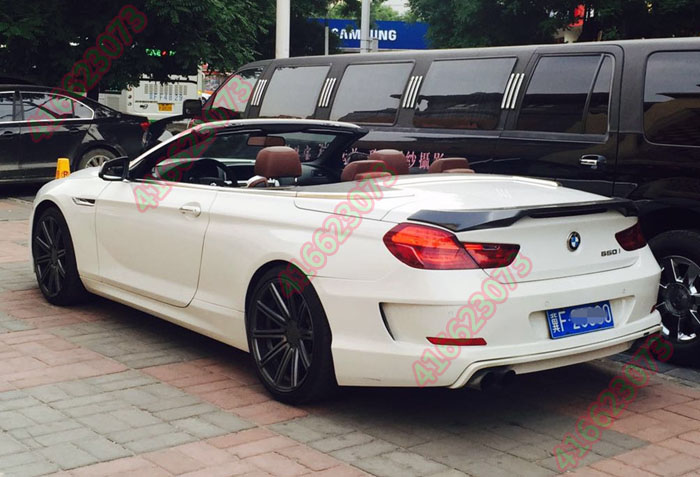 Fit For BMW 6 Series 640 650i F06 F12 F13 Haman N 2011 2014 Modified Carbon Fiber Rear Wing Spoiler In Spoilers Wings From Automobiles