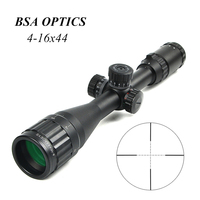 BSA OPTICS 4 16x44 ST Optic Sight With Green Red Illuminated Riflescope Hunting Scopes Tactical Airsoft Scope