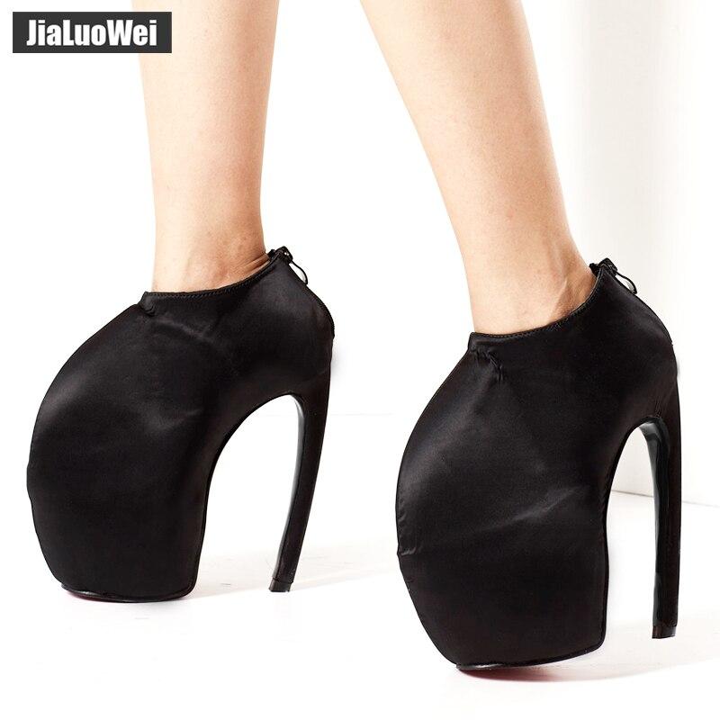 8e50ea9dc423 jialuowei 2018 New Strange Style Designer 18CM Super High Heel Platform  Boots Sexy Fetish Unisex Ankle Pumps Plus Size 36-46