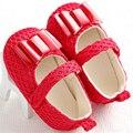 Moda zapatos de un solo bebé recién nacido niñas Zapatos primavera verano sólido del Algodón Infantiles Del Niño Suave antideslizante bowknot Primeros Caminante
