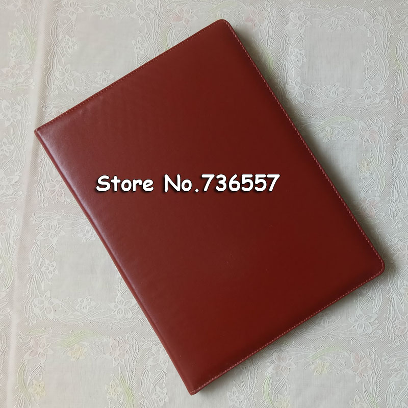 A4 leather business manager portfolio conference file folder document organizer signature agreement padfolio