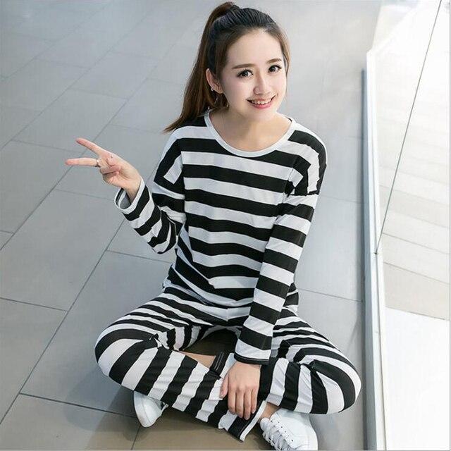 15e433329c1 Women Pajamas Set Autumn Pyjamas Ladies Pijama Cute Sleepwear Girl Long  Sleeved Household Clothing Set 2018 New