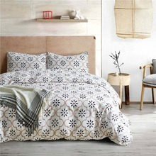 Geometric Pattern Polyester Bedding Sets Regular Printed Duvet Cover Set Pillowcases Twin Queen King Size Bed Linen Bedclothes