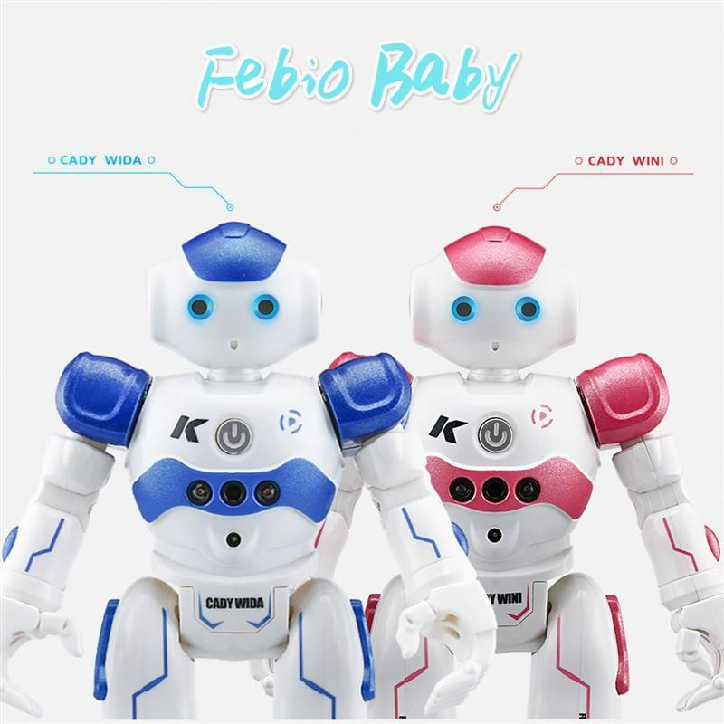 2019 Robot R2 CADY WINI Robot inteligente RC RTR evitación de obstáculos movimiento programación Control de gestos Robot inteligente niños juguete