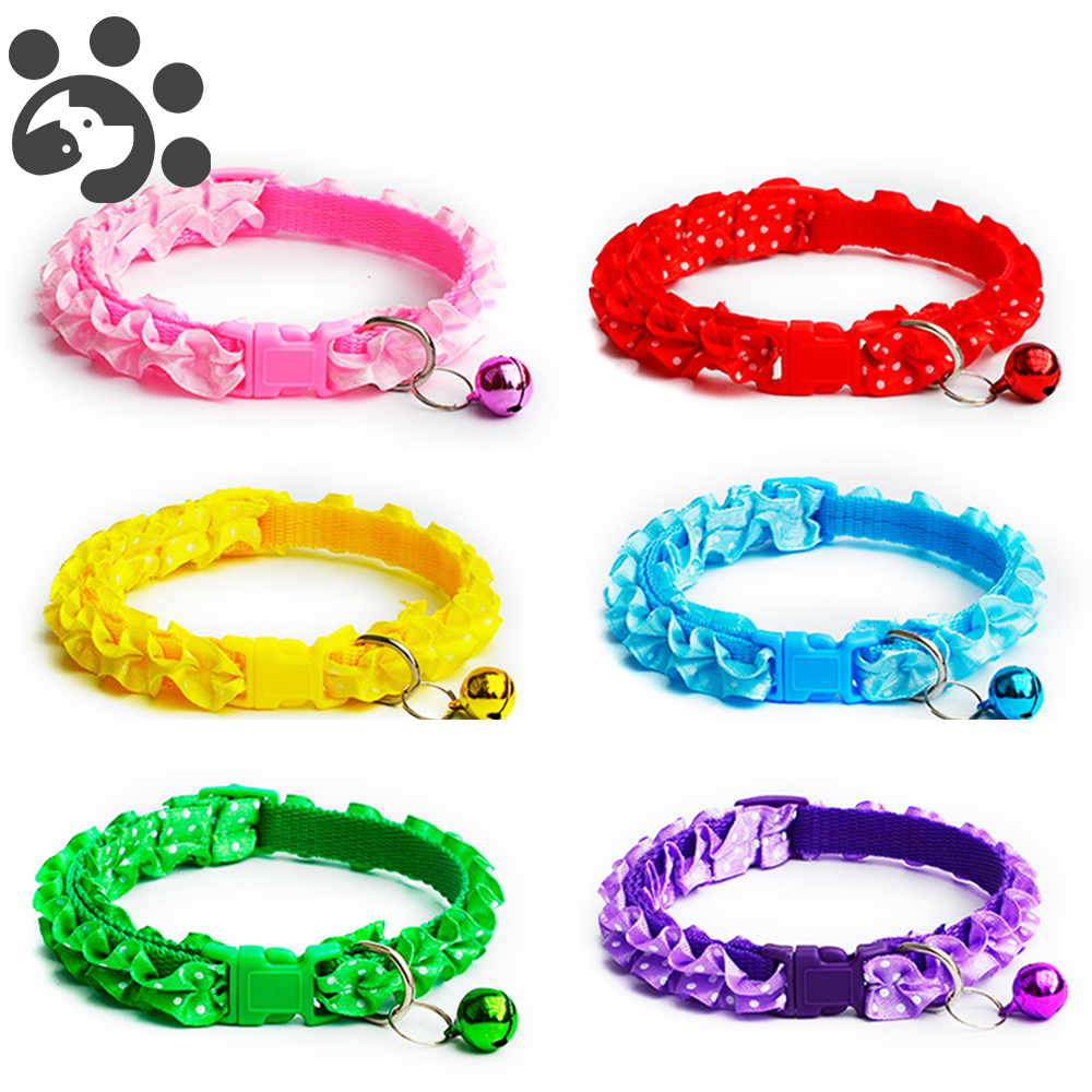 Lace Cat Collar Breakaway With Bell For Small Dogs Cats Chihuahua Collar For Cats Animals Supplies For Dogs Harness Leash MP0070