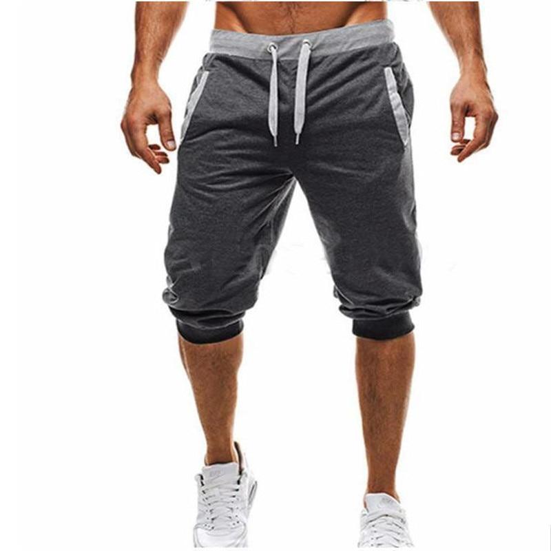 Men Leisure Knee Length Shorts Patchwork Joggers 3