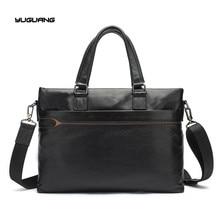 Genuine Leather Shoulder Crossbody Bag Men's Briefcase 14″Laptop Bags Leather Handbag Totes Men Bag Men Messenger Bags