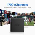 Europeu Caixa De IPTV Android TV Caixa Céu Receptor IPTV 1700 + céu Francês Turco Holanda Canais Melhor Do Que MXV Android TV caixa