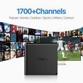 Receptor IPTV IPTV Caja Android TV Box Cielo europeo 1700 + cielo Francés Turco Holanda Canales Mejor Que MXV Android TV caja