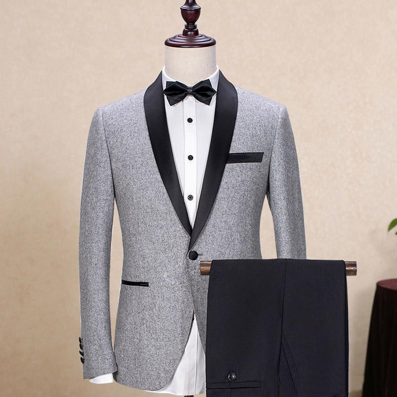 gray-wedding-groom-tuxedos-2018-black-shawl-lapel-trim-fit-mens-suits-custom-made-business-party-groomsmen-suit-(jacket-+-pants) (1)