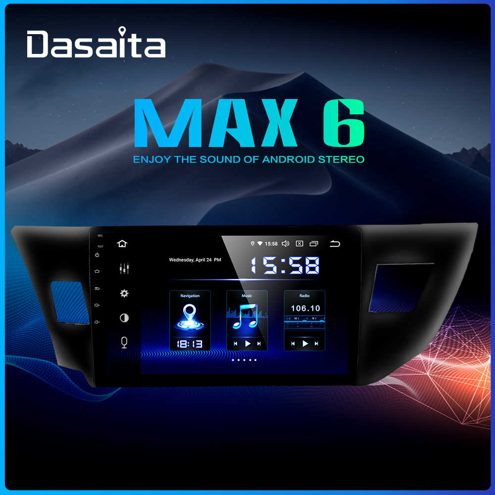 "Dasaita 10.2"" Multimedia Car Android 9.0 for Toyota Corolla 2014 2015 2016 TDA7850 Multi Touch Screen HDMI 4GB RAM"