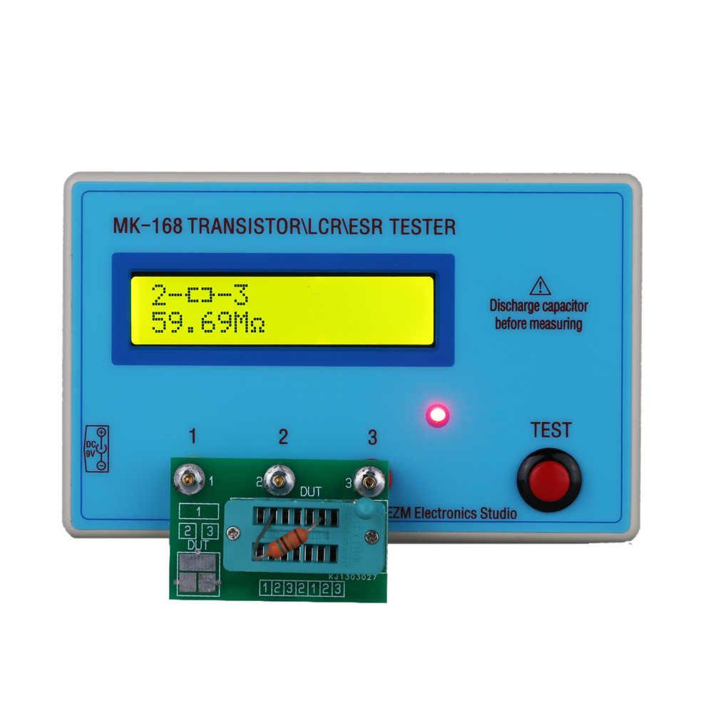 متعدد الوظائف الترانزستور تستر LCD الخلفية ديود الحث السعة المقاومة ESR متر ل MOS/PNP/NPN L/C/R اختبار