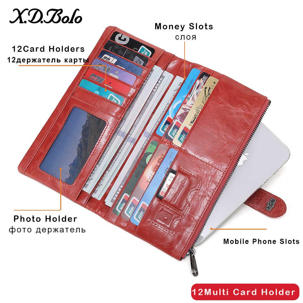 X. D. BOLO кошелек из натуральной кожи женские кошельки и длинный бумажник женский клатч кошелек женские кошельки Кошелек