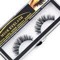 1 Box 1 Pair 3D Mink False Eyelashes 100% Real Mink Eyelashes cross Handmade Makeup Thick False Eyelashes