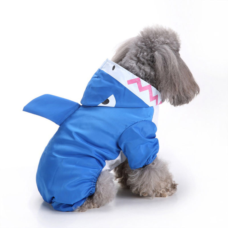 3 Colors Hooded Pet Dog Raincoats Waterproof Clothes For Small Dogs Chihuahua Pug Clothing Dog