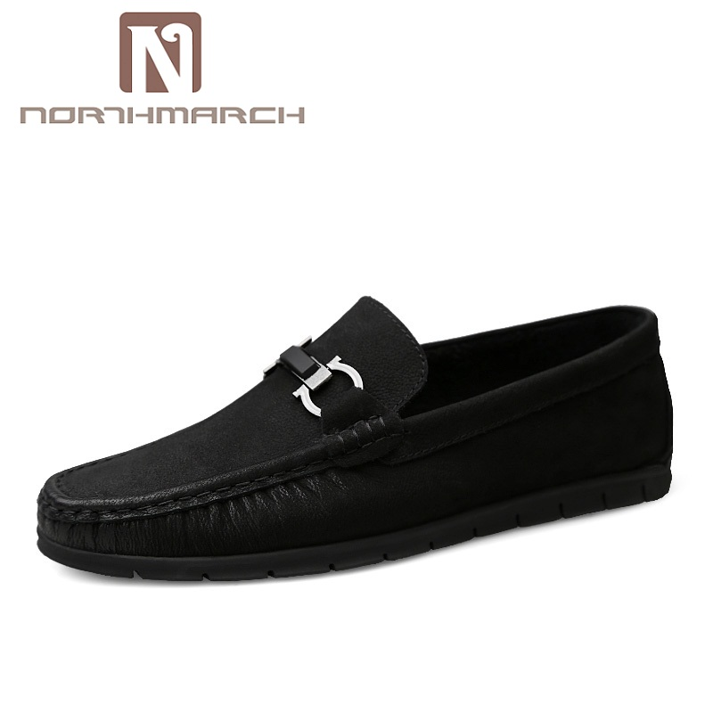 NORTHMARCH Spring Fashion Casual Driving Shoes Genuine Leather Men Shoes Breathable Comfortable Flats Shoes Men Herenschoenen
