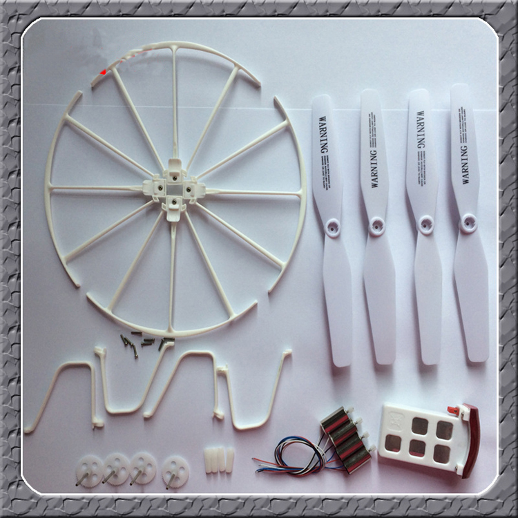 1Set SYMA X5UC X5UW Quadcopter Spare Parts Guard Circle + Propellers + Mini Motors + Battery Protective Cover + Gear Kit newest syma x5uw
