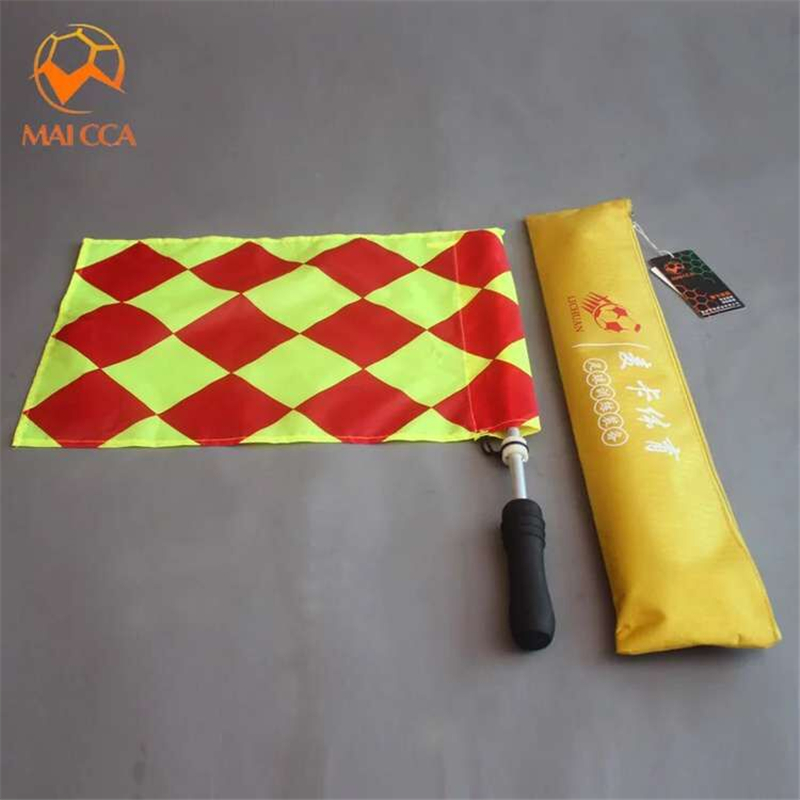 MAICCA Soccer flags for referee Football referee flag Sports match linesman judge equipment with bag