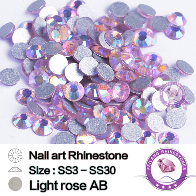 Machine Cut SS3 To SS30 Light Rose AB Shape Round Flatback Non Hot Fix  Rhinestones For Nails Bags Shoes Art Decorations 4a69b143f26c