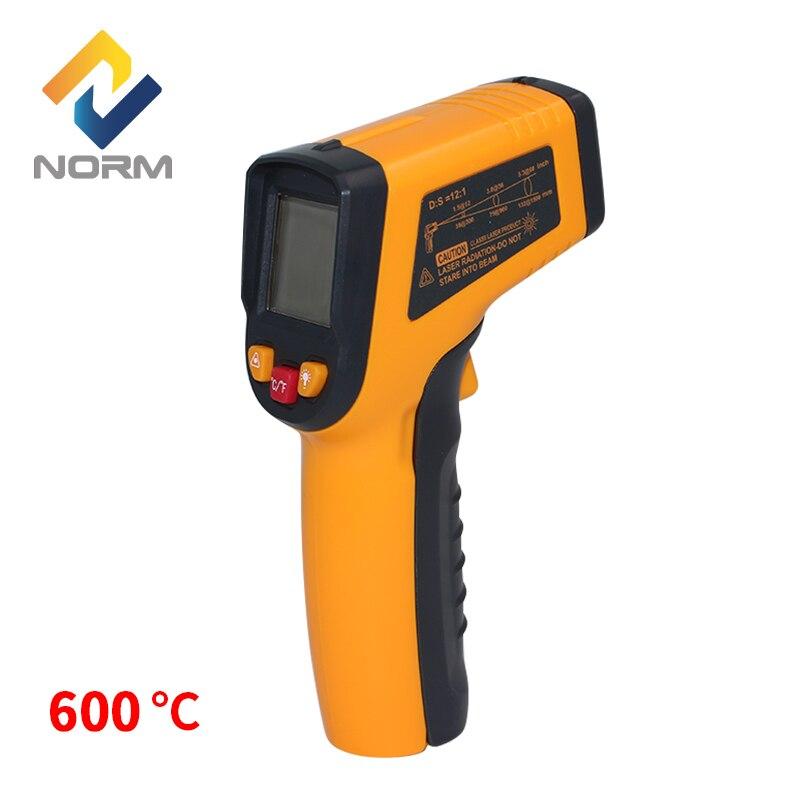 Norme max 600 degrés industrielle et houserhold numérique électronique infrarouge themometer