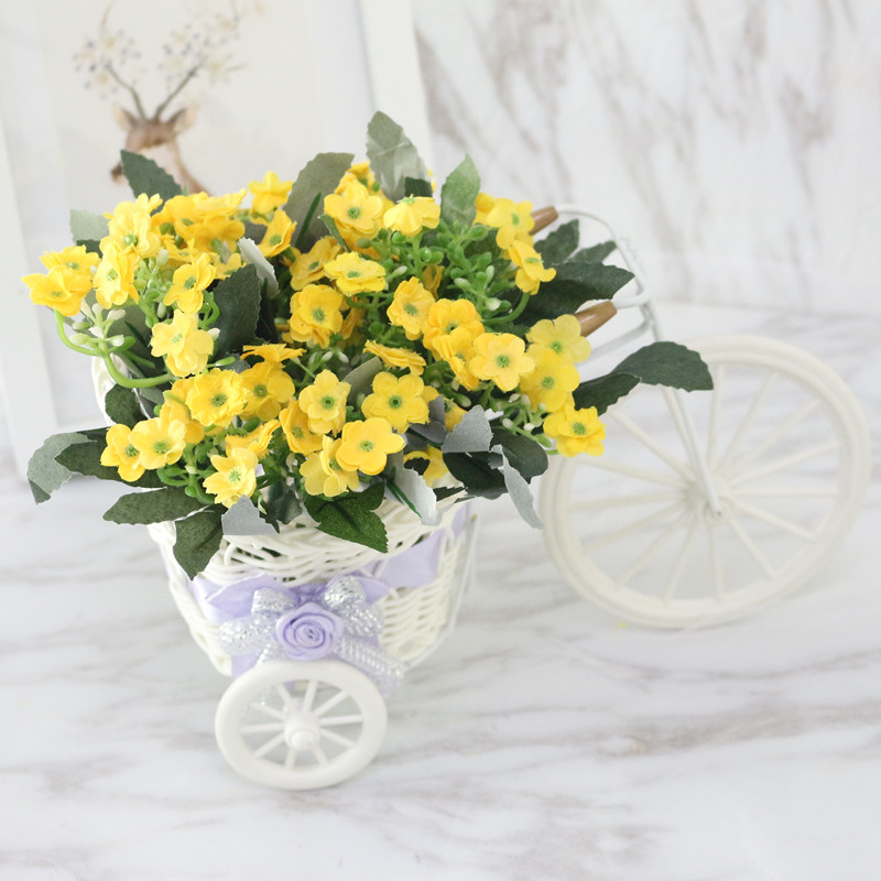 225 & US $8.09 19% OFF|Flone High Quality Artificial Flower Car Simulation Rattan Bicycle Flowers Set Vase with Flowers Home Office Decor Birthday Gift-in ...