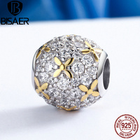 High Quality 925 Sterling Silver Dazzling Firefly Lightning Bug Clear CZ Beads Fit Original Pandora Charm