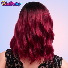 DinDong Cosplay Wig Short Curly Wigs For Women Synthetic Omb