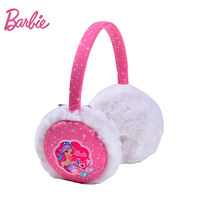 Barbie Winter Women Warm Earmuffs Plush Girl S Earlap Fashion Pink Fashion Ear Warmer With Embroidery