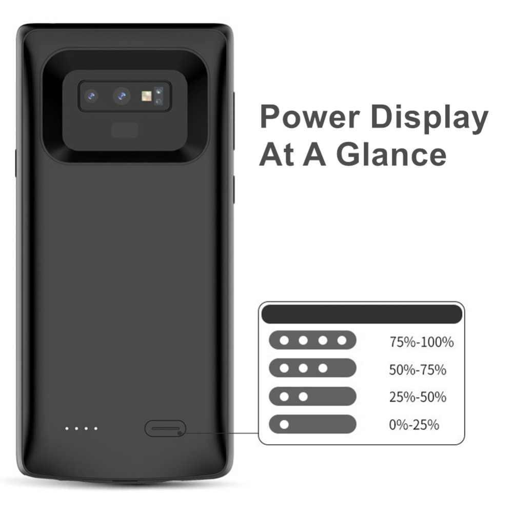 Obudowa ładowarki do Samsung Galaxy S9 S8 Plus miękka TPU ładowarka do telefonu Samsung Note 8 Note 9 obudowa baterii